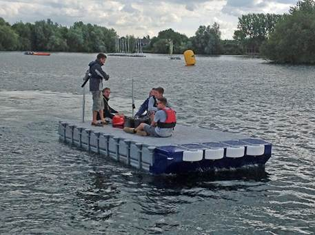 Other uses floats ahoy for Floating fishing platform
